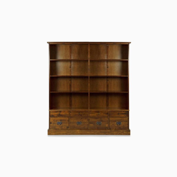 가렛 다크 더블 책장 8단  GARRAT DARK 8DRAWER DOUBLE BOOKCASE