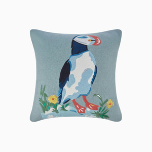 퍼핀 자수 쿠션  PUFFIN EMBROIDERED CUSHION